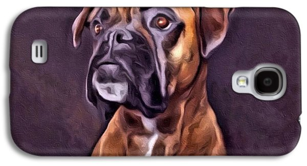Boxer Galaxy S4 Cases - Boxer Portrait Galaxy S4 Case by Scott Wallace