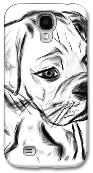 Boxer Galaxy S4 Cases - Boxer Pup Galaxy S4 Case by Leah Mitchell