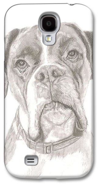 Boxer Drawings Galaxy S4 Cases - Boxer Galaxy S4 Case by Rebecca Vose