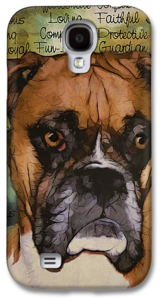 Boxer Galaxy S4 Cases - Boxer Galaxy S4 Case by Sherry Wemple