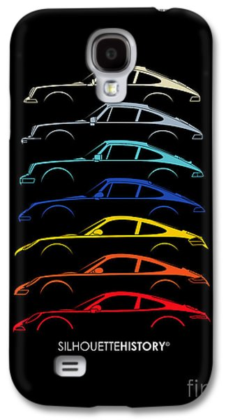 Boxer Digital Galaxy S4 Cases - Boxer Sports Car SilhouetteHistory Galaxy S4 Case by Gabor Vida