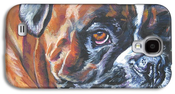 Boxer Paintings Galaxy S4 Cases - Boxer Tennis Galaxy S4 Case by Lee Ann Shepard
