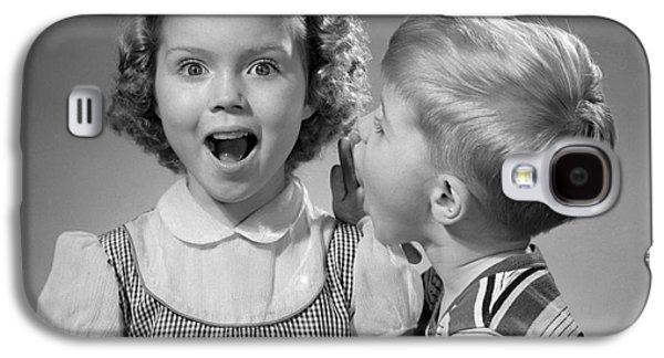 Boy Whispering In Girls Ear, C.1950s Galaxy S4 Case by Debrocke/ClassicStock