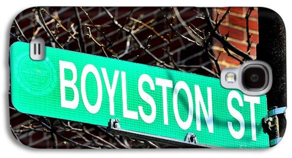 Footrace Galaxy S4 Cases - Boylston Street in Boston Site of Bombings Galaxy S4 Case by Lane Erickson