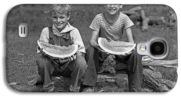 Boys Eating Watermelons, C.1940s Galaxy S4 Case by H. Armstrong Roberts/ClassicStock