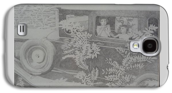 A Hot Summer Day Galaxy S4 Cases - Happys 2002 Boys with Dove in Model A Galaxy S4 Case by Happy Byrd
