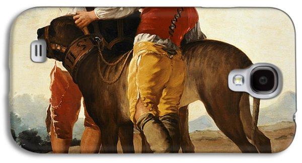 Boys With Mastiff Galaxy S4 Case by Goya