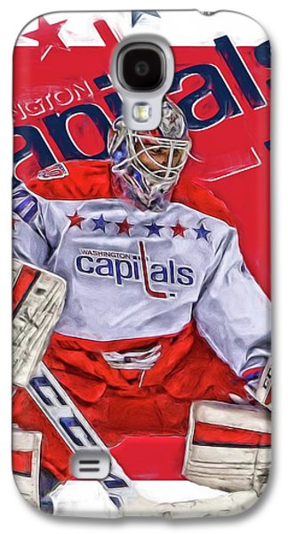Braden Holtby Washington Capitals Oil Art Galaxy S4 Case by Joe Hamilton