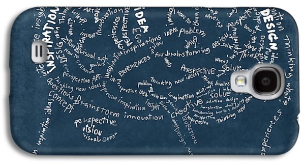 Thinking Galaxy S4 Cases - Brain drawing on chalkboard Galaxy S4 Case by Setsiri Silapasuwanchai