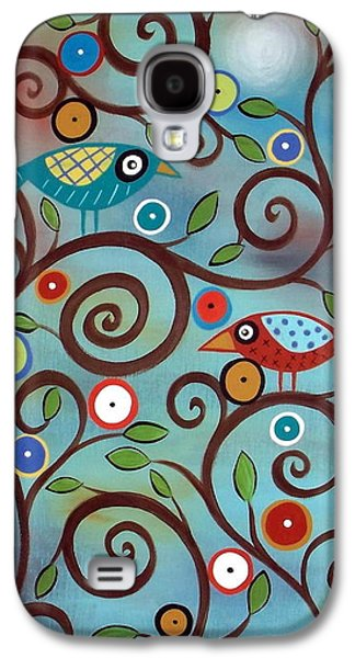 Picture Paintings Galaxy S4 Cases - Branch Birds Galaxy S4 Case by Karla Gerard