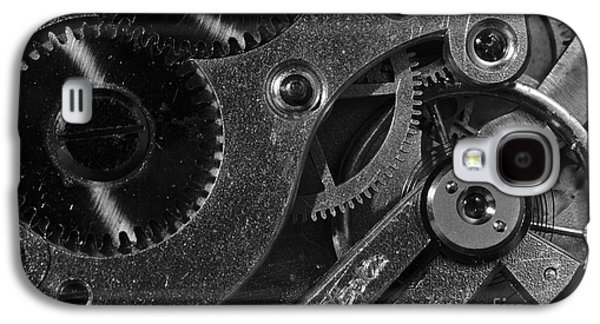 Mechanism Galaxy S4 Cases - Brass Hearted - Monochrome Galaxy S4 Case by Angelo DeVal