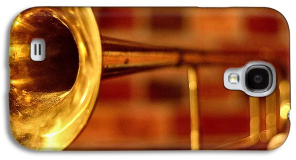 Music Photographs Galaxy S4 Cases - Brass Trombone Galaxy S4 Case by David  Hubbs