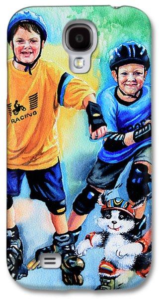 Kids Sports Art Galaxy S4 Cases - Break Away Galaxy S4 Case by Hanne Lore Koehler