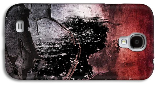 Colorful Abstract Digital Galaxy S4 Cases - Break Through Galaxy S4 Case by Az Jackson