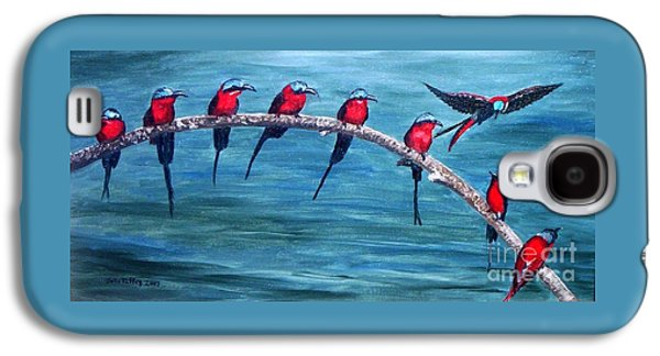 Group Of Birds Paintings Galaxy S4 Cases - Break Time Galaxy S4 Case by Julie Brugh Riffey
