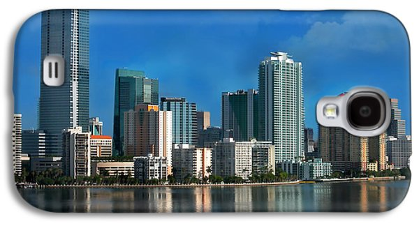 Miami Photographs Galaxy S4 Cases - Brickell Skyline 2 Galaxy S4 Case by Bibi Romer