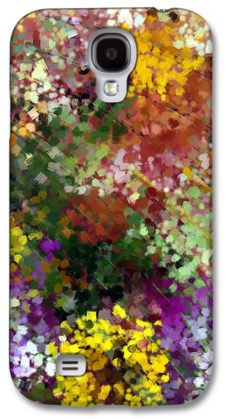 Digital Tapestries - Textiles Galaxy S4 Cases - Bridal Bouquet Galaxy S4 Case by Suzi Freeman
