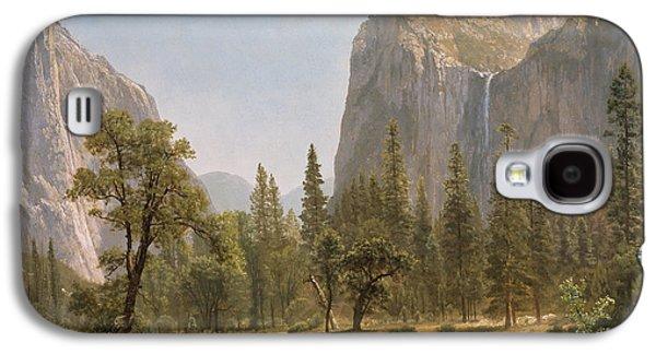 Bridal Veil Falls Yosemite Valley California Galaxy S4 Case by Albert Bierstadt