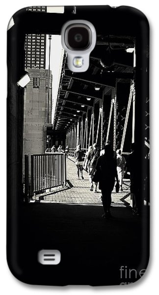 Bridge - Lower Lakeshore Drive At Navy Pier Chicago. Galaxy S4 Case by Frank J Casella