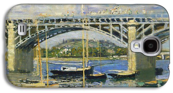 1874 Galaxy S4 Cases - Bridge over the River at Argenteuil Galaxy S4 Case by Claude Monet