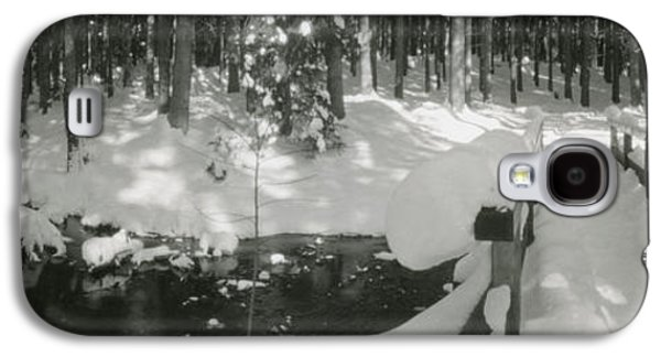 Recently Sold -  - Loose Style Photographs Galaxy S4 Cases - Bridge river and snow Galaxy S4 Case by Marcio Faustino