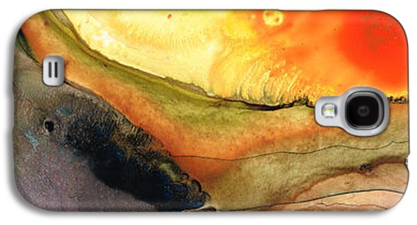 Abstract Art Canvas Paintings Galaxy S4 Cases - Bridging The Gap Galaxy S4 Case by Sharon Cummings