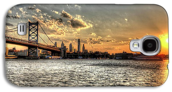 Williams Dam Galaxy S4 Cases - Bridging two cities. Philly skyline view from Camden. Galaxy S4 Case by Mark Ayzenberg