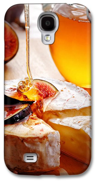 Pour Photographs Galaxy S4 Cases - Brie Cheese with Figs and honey Galaxy S4 Case by Johan Swanepoel