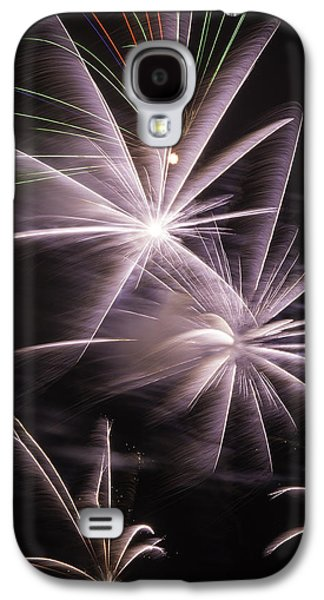 Pyrotechnics Galaxy S4 Cases - Bright Fireworks Galaxy S4 Case by Garry Gay
