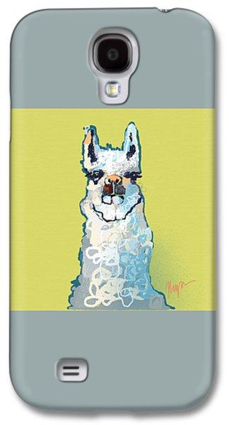 Bright Mustard Llama Galaxy S4 Case by Niya Christine