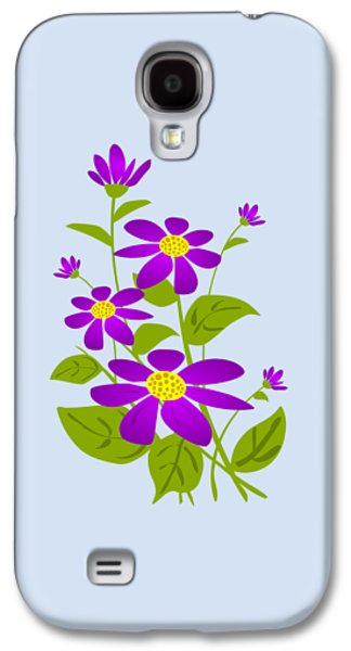 Cute Digital Galaxy S4 Cases - Bright Purple Galaxy S4 Case by Anastasiya Malakhova