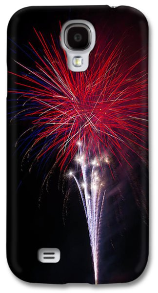 Bright Red Fireworks Galaxy S4 Case by Garry Gay