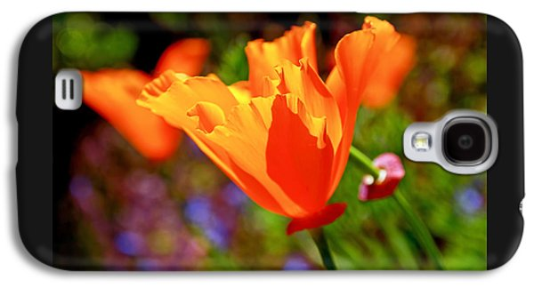 Botanical Galaxy S4 Cases - Brilliant Spring Poppies Galaxy S4 Case by Rona Black