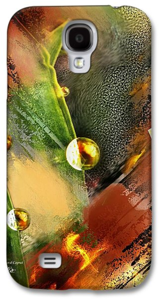 Abstract Digital Paintings Galaxy S4 Cases - Brindille Galaxy S4 Case by Francoise Dugourd-Caput