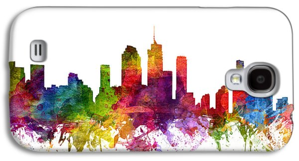 Australia Drawings Galaxy S4 Cases - Brisbane Australia Cityscape 06 Galaxy S4 Case by Aged Pixel