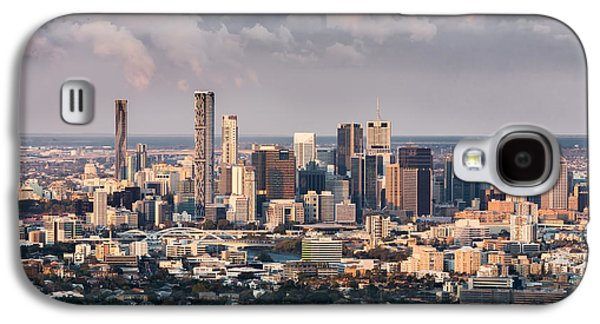 Business Pyrography Galaxy S4 Cases - Brisbane Cityscape from Mount Cootha Galaxy S4 Case by Stanislav Kaplunov