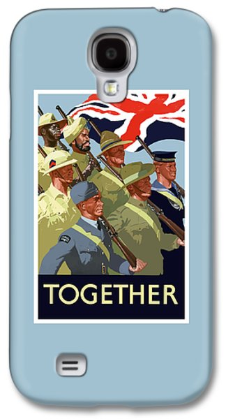 Government Mixed Media Galaxy S4 Cases - British Empire Soldiers Together Galaxy S4 Case by War Is Hell Store