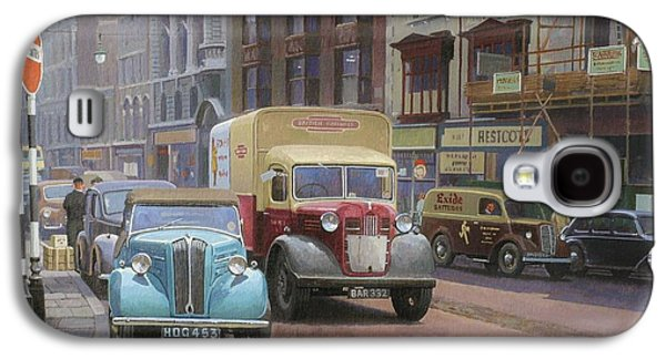 Streetscenes Paintings Galaxy S4 Cases - British Railways Austin K2 Galaxy S4 Case by Mike  Jeffries