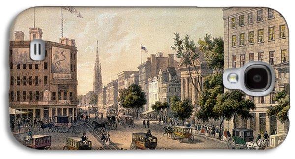 Broadway In The Nineteenth Century Galaxy S4 Case by Augustus Kollner