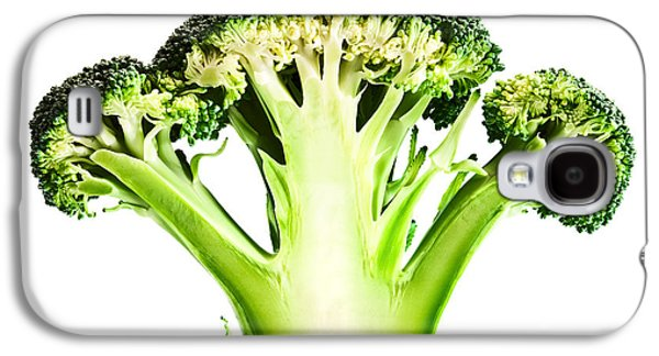 Healthy Galaxy S4 Cases - Broccoli cutaway on white Galaxy S4 Case by Johan Swanepoel