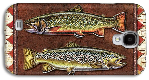 Brook And Brown Trout Lodge Galaxy S4 Case by JQ Licensing