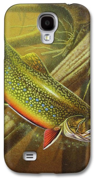 Brook Trout Cover Galaxy S4 Case by JQ Licensing