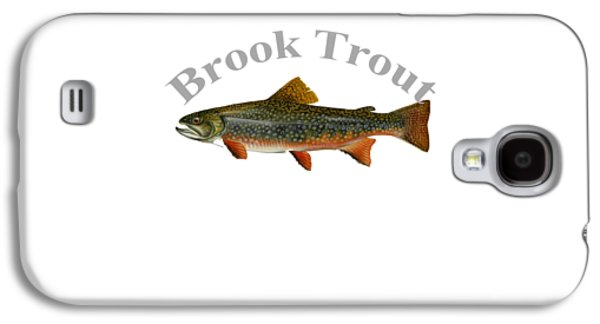 Gamefish Drawings Galaxy S4 Cases - Brook Trout Fish by Dehner Galaxy S4 Case by T Shirts R Us -