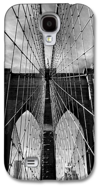 Brooklyn Bridge Digital Galaxy S4 Cases - Brooklyn Bridge in Monochrome Galaxy S4 Case by Jessica Jenney