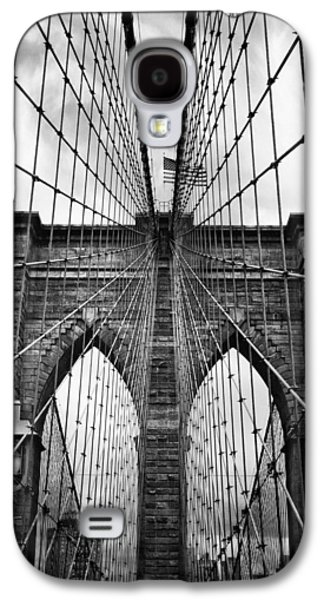Brooklyn Bridge Digital Galaxy S4 Cases - Brooklyn Bridge Mood Galaxy S4 Case by Jessica Jenney