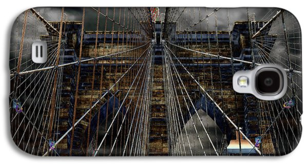 Landmarks Photographs Galaxy S4 Cases - Brooklyn Bridge - Surreal Galaxy S4 Case by Stephen Stookey