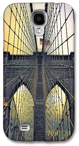 Brooklyn Bridge Digital Galaxy S4 Cases - Brooklyn Bridge Twilight Galaxy S4 Case by Jessica Jenney