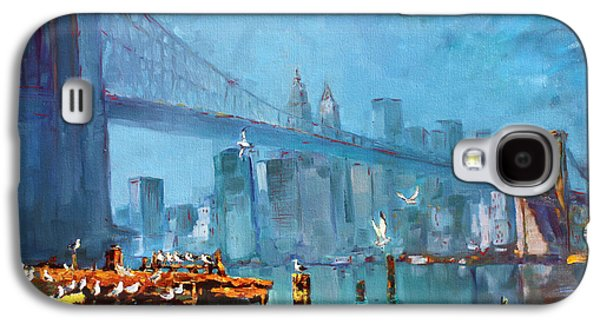 City Scape Galaxy S4 Cases - Brooklyn Bridge Galaxy S4 Case by Ylli Haruni