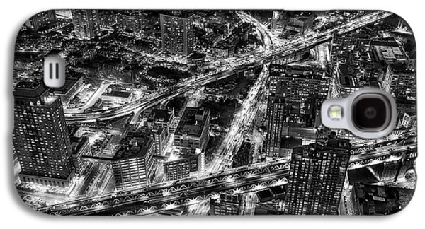 Brooklyn Nyc Infrastructure Bw Galaxy S4 Case by Susan Candelario