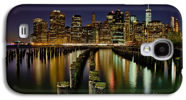 Midtown Galaxy S4 Cases - Brooklyn Pier At Night Galaxy S4 Case by Az Jackson